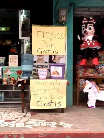 """""""Getränk und Brot gratis"""": in Guatemala erfahren die Geflüchteten viel Unterstützung seitens der Bevölkerung"""