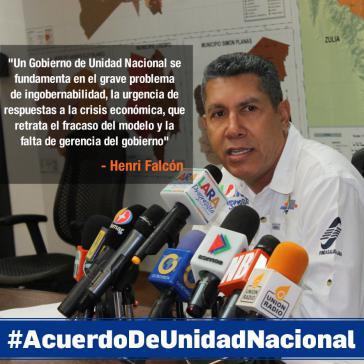 Henri Falcón, Ex-Gouverneur von Lara, tritt gegen Maduro an. Er plädiert für eine Regierung und ein Abkommen der Nationalen Einheit in Venezuela