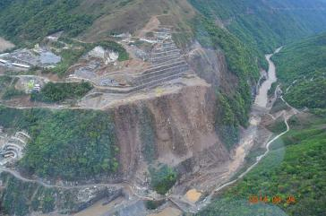 Das Stauseeprojekt Hidroituango in in Antioquia, Kolumbien
