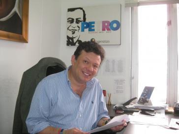 Hollman Morris, Menschenrechtler, Dokumentarfilmer, Stadtrat für die Bewegung der Progressiven und Mitstreiter von Gustavo Petro