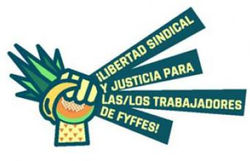 """Im Jahr 2017 startete die internationale Kampagne """"Gewerkschaftsfreiheit und Fairness für Fyffes-Beschäftigte"""" der  Make Fruit Fair! Campaign"""