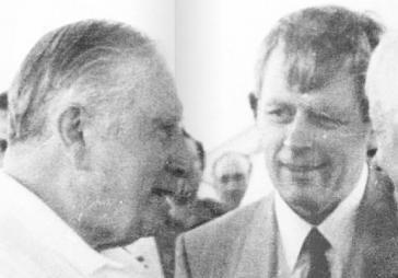 Hartmut Hopp im Gespräch mit dem chilenischen Diktator Augusto Pinochet.