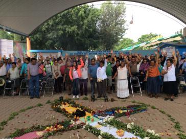 Am 22. Juli 2018 wurde das Bündnis gegen Bergbau in Oaxaca gegründet