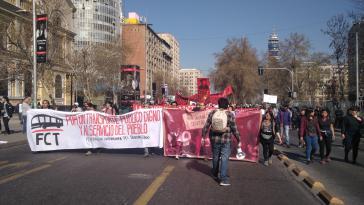 Rund 2.500 Personen zogen durch die Hauptstadt Santiago de Chile
