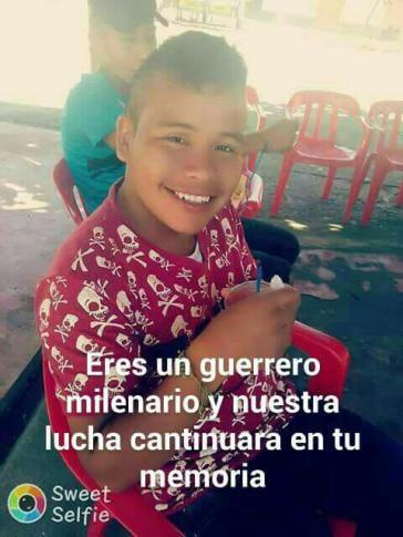 Jose Wuilson Escue Vitonco wurde bei dem Einsatz staatlicher Einsatzkräften im Dorf El Palo im Süden Kolumbiens mit einem Kopfschuss getötet