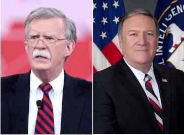 Nach dem Willen von US-Präsident Trump soll John Bolton (links)  neuer Sicherheitsberater, Mike Pompeo Außenminister werden (Kollage Amerika21)