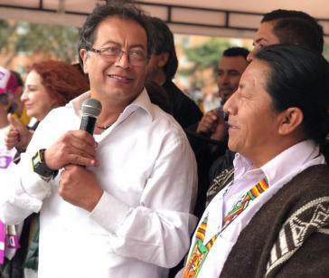 Seit Monaten steht Petro in den Umfragen unter den drei stärksten Kandidaten. Im Februar führte er sie mit rund 22 Prozent an