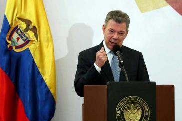 Kolumbiens Präsident Juan Manuel Santos hat über den Eintritt des Landes in die Nato informiert