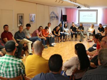 Bei einer Debatte auf der Jugendkonferenz des Netzwerks Kuba in Bonn