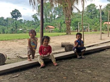 Kinder im Dorf El Bala