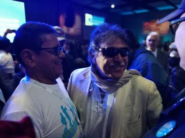 Márquez (li.) und Santrich (re.) scheinen die Hoffnung auf die Umsetzung des Friedensabkommens fast aufgegeben zu haben