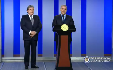 Kolumbiens Präsident Iván Duque gab am Montag im Beisein seines Außenministers Carlos Holmes Trujillo den Austritt aus der Unasur bekannt