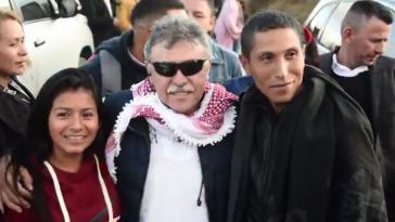 Jésus Santrich bei einer Wahlkampfveranstaltung im März in Cumbal, Nariño