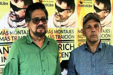 Zwei der Unterzeichner des offenen Briefs: Iván Márquez (links), der Leiter der Farc-Delegation bei den Friedensverhandlungen mit der Regierung und Óscar Montero, wie Márquez Mitglied des Zentralen Oberkommandos der Guerilla