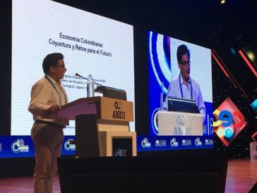 Kolumbiens Finanzminister Alberto Carrasquilla beim Andi-Kongress