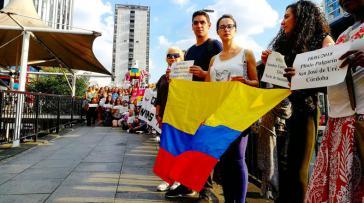 Protest am 6. Juli in London für den Frieden in Kolumbien