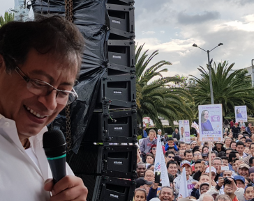 Beklagt Unregelmäßigkeiten bei Parlamentswahl in Kolumbien: der linke Kandidat Gustavo Petro