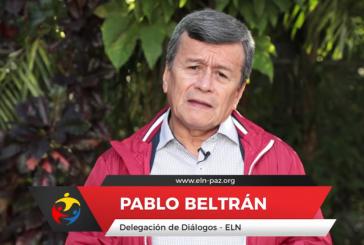 """ELN-Kommandant Beltrán: """"Die Bevölkerung verlangt nach mehr als einem halben Jahrhundert des Krieges nach einer Überwindung des Konflikts"""" (Screenshot)"""