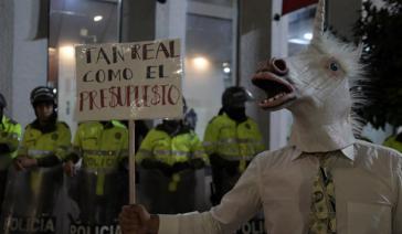 Wollen mehr Geld für Universitäten: Studierende in Kolumbien