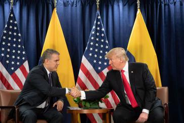Ziemlich beste Freunde: Iván Duque aus Kolumbien und U-Präsident Donald Trump