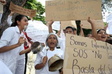 Seit mehr als zwei Wochen im Streik für existenzsichernde Löhne: Gesundheitspersonal in Venezuela