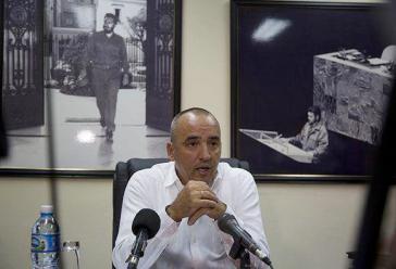 Ernesto Soberón Guzmán, Leiter der zuständigen Abteilung beim Außenministerium, bei der Pressekonferenz