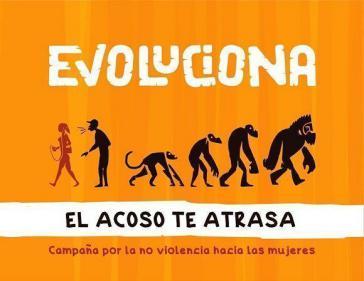 """Motto der neuen Kampagne gegen Gewalt gegen Frauen in Kuba:  """"Entwickle dich weiter ‒ Belästigung wirft dich zurück"""""""