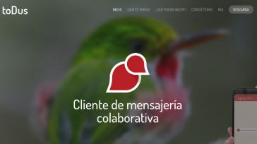 Webportal des neuen Instant-Messenger toDus in Kuba