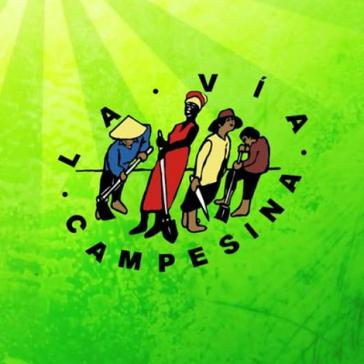 Logo der  internationale Bewegung von Kleinbauern und Landarbeitern, Via Campesina