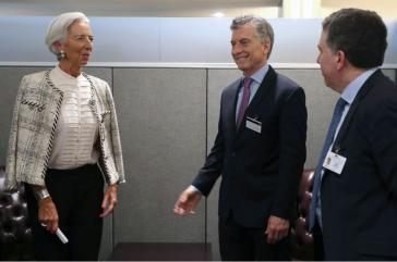 IWF-Chefin Christine Lagarde und der argentinische Präsident Maurcio Macri am Dienstag bei Gesprächen über weitere Finanzhilfen