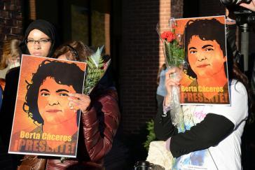 Gedenken an die ermordete Menschenrechts- und Umweltaktivistin Berta Cáceres (1972-2016) in Honduras
