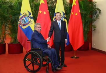 Der aktuelle Präsident Lenín Moreno verhandelte in China vor zwei Wochen erst neue Kredite in Höhe von knapp einer Milliarden US-Dollar