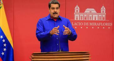 Der Präsident von Venezuela, Nicolás Maduro, bei seiner Ansprache am 31. Dezember