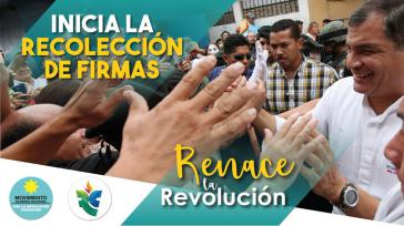 Ehemalige Mitglieder der Alianza País - unter ihnen Ex-Präsident Rafael Correa - rufen zur Unterschriftensammlung für Mana auf, um bei Wahlen zugelassen zu werden