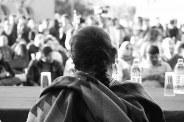María de Jesús Patricio bei einer Veranstaltung in der Universität in Baja California Sur am 13. Februar 2018