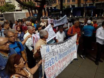 Metroarbeiter protestieren in Caracas