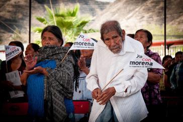 Bei einer Veranstaltung der neuen Linkspartei in Mexiko, Morena