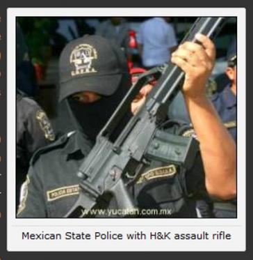 Hier ist ein mexikanischer Soldat mit einem deutschen Sturmgewehr zu sehen (Screenshot)