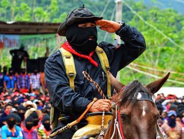 Subcomandante Insurgente Moises von der EZLN in Mexiko