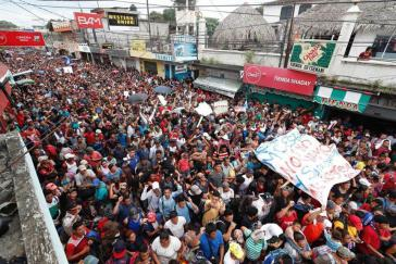 Fußmarsch der Migranten aus Mittelamerika in Mexiko