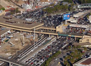 Grenzübergang San Ysidro zwischen Mexiko und den USA