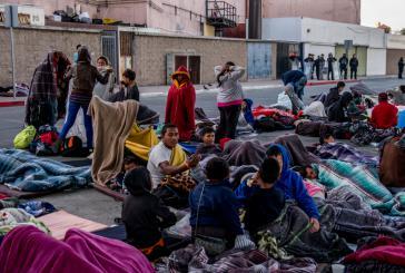 Die Unterkünfte sind überfüllt, viele Geflüchtete kampieren in Tijuana auf der Straße