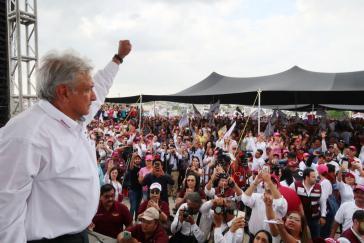 Derzeit aussichtsreichster Kandidat für die Präsidentschaft in Mexiko: Andrés Manuel López Obrador, hier bei einer Wahlkampfveranstaltung