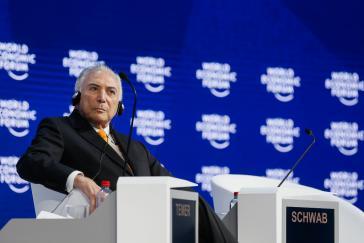 Brasiliens De-facto-Präsident Temer beim diesjährigen Weltwirschaftsforum in Davos