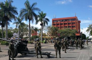 Militär auf den Straßen am Unabhängigkeitstag