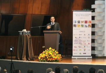 Handelsminister Pablo Campana auf dem 1. Handels- und Investitionsforum Ecudador - USA