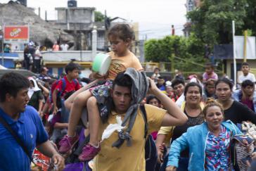 Migranten in Chiapas, Südmexiko. Über 10.000 Personen sollen seit Oktober mexikanisches Gebiet von Zentralamerika in Richtung USA durchquert haben