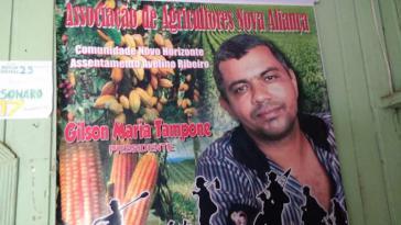 Der Präsident eines Bauernverbandes, Gilson Maria Tampone, wurde am vergangenen Wochenende im Bundesstaat Pará ermordet