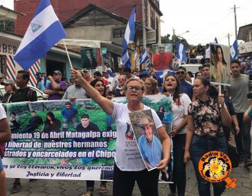 "Demonstration der ""Mütter des Aprils"" gegen die Regierung Ortega (Matagalpa, Nicaragua, 30. Juni)"