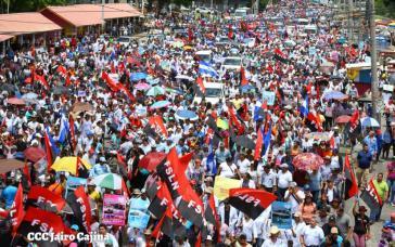 Anhänger der Regierung in Managua, der Hauptstadt von Nicaragua